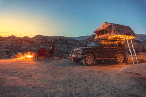 tent on a jeep