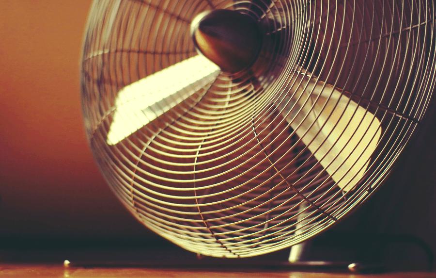 fan at rest
