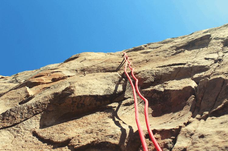 top rope hanging