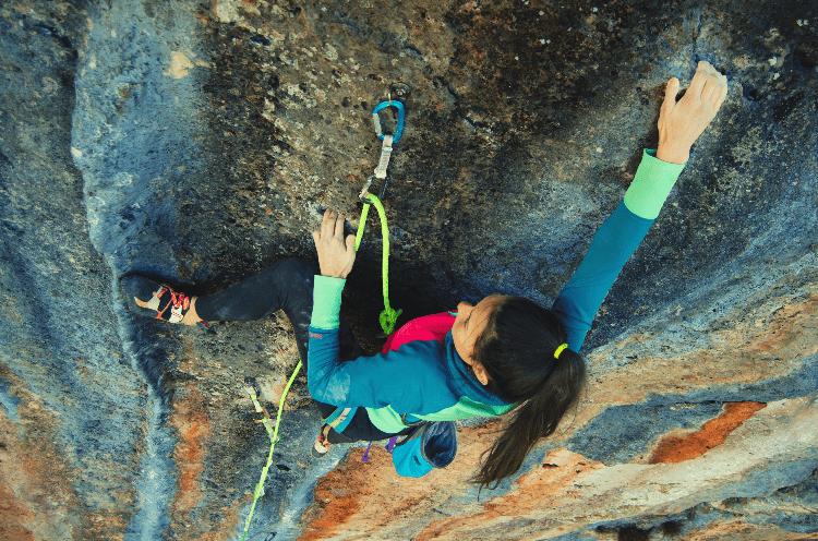 woman sport climbing