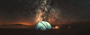 how to go camping night sky