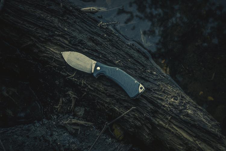 knife on a tree
