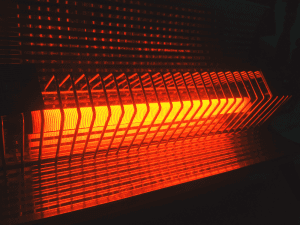 heater turned on at night