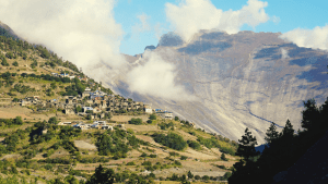 nepal half dome and village