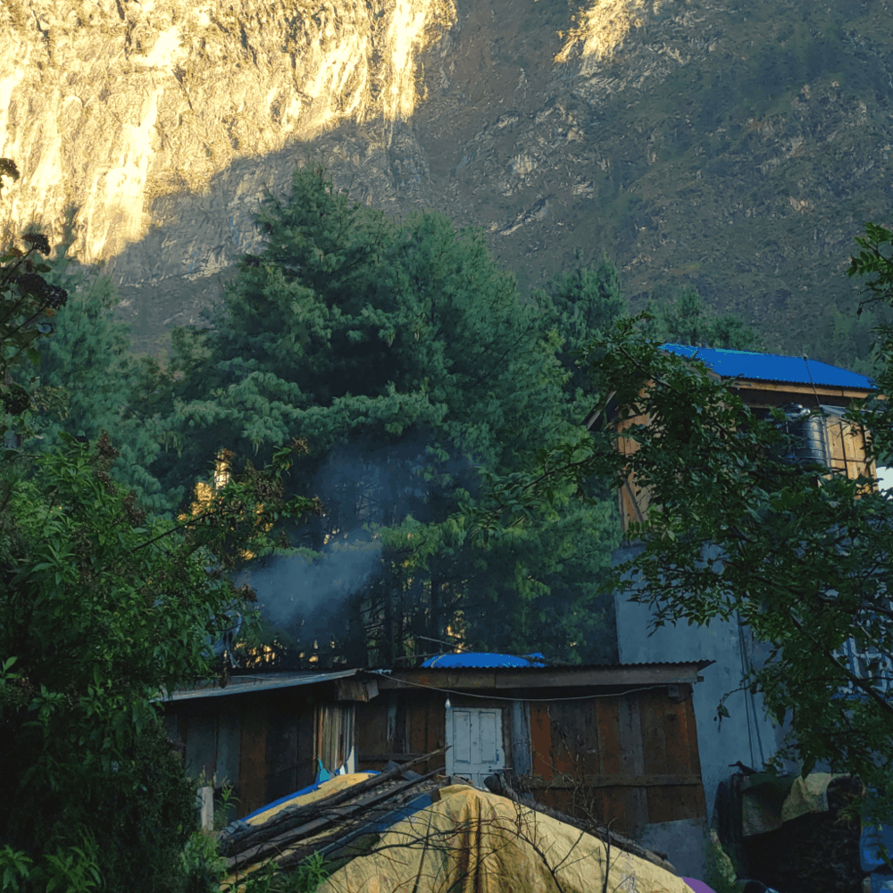 hot spring in chame