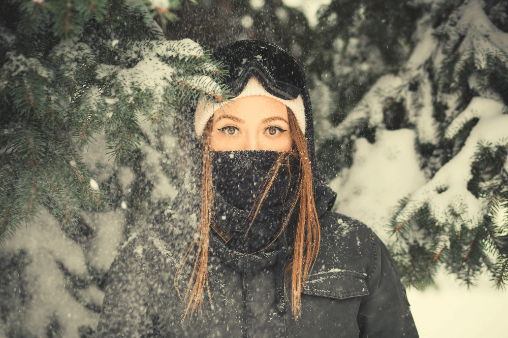 woman dressed for winter