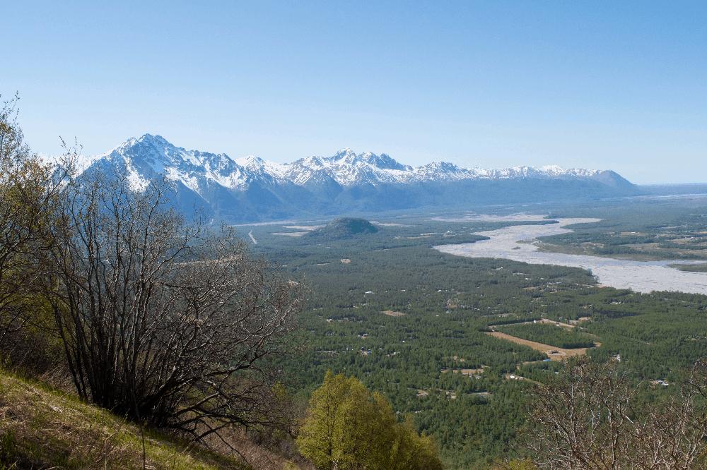 mountain vista in alaska