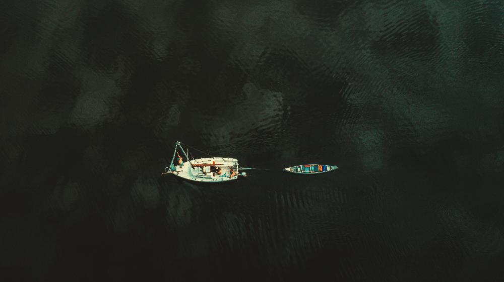 boat and kayak on a lake