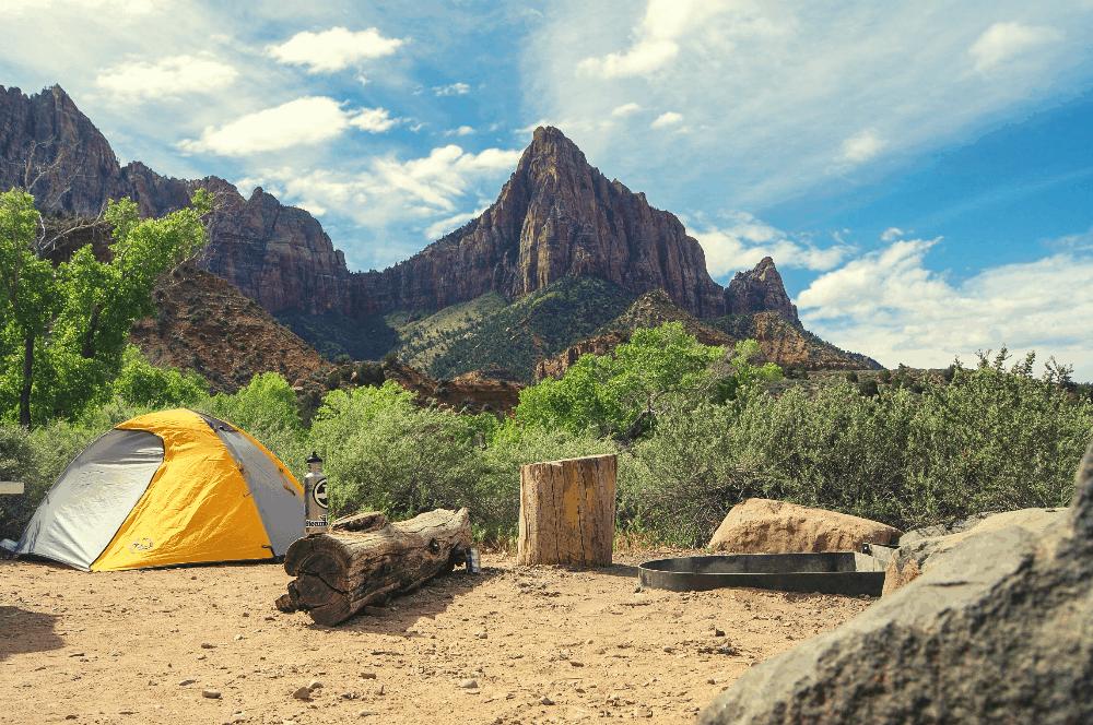 camping in zion national park utah