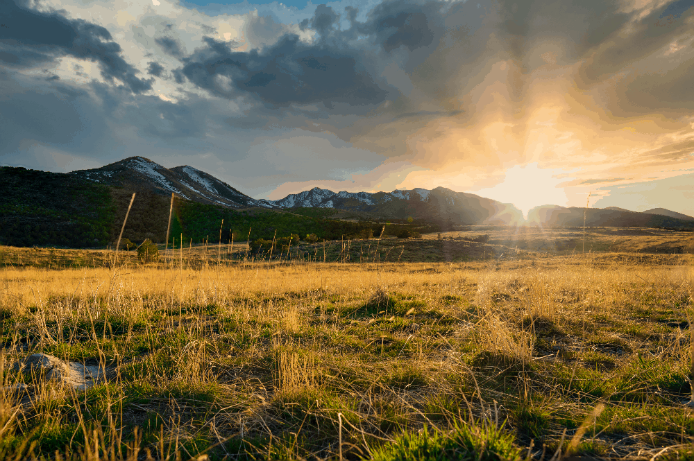 sunset on the plains of utah