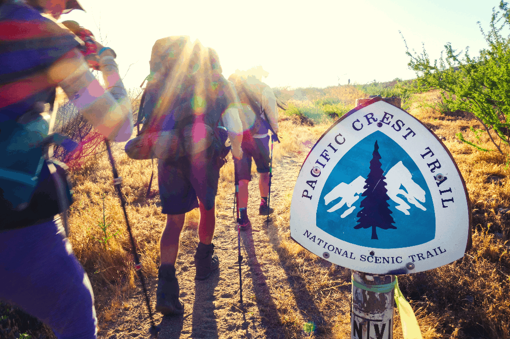 hikers starting the pacific crest trail