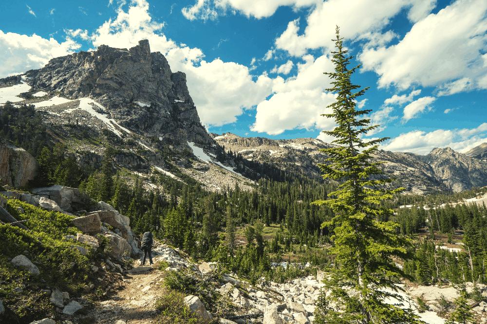 grand teton mountains crest trail
