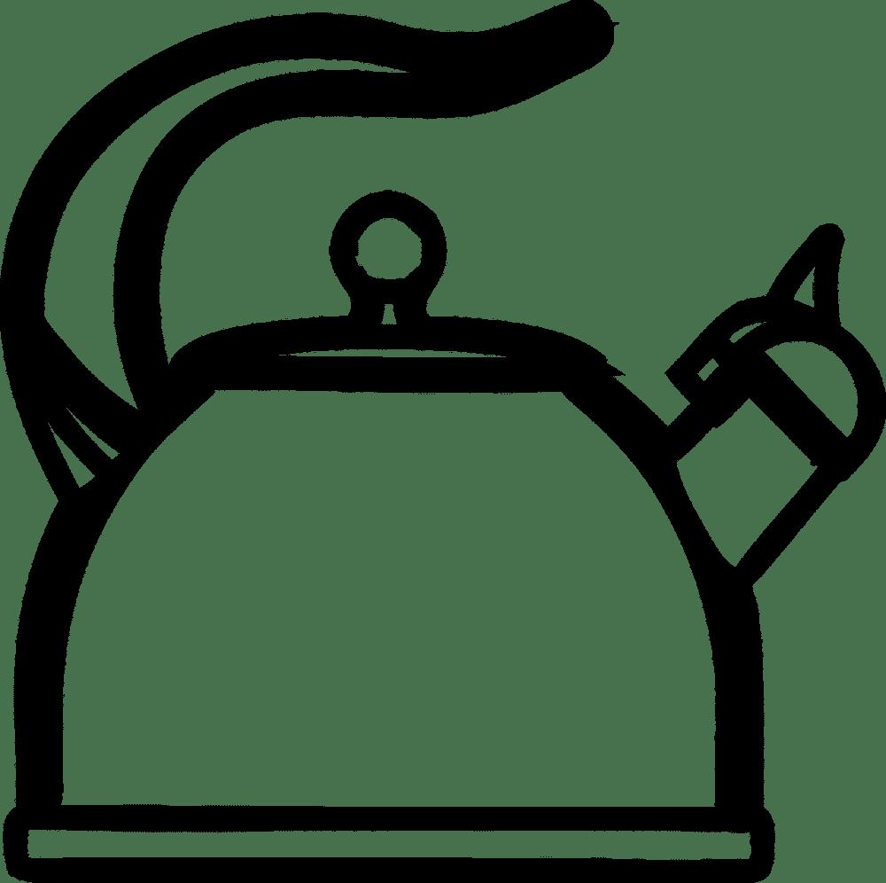 vector of a tea kettle