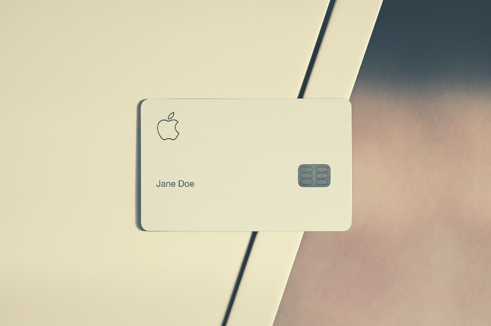 apple credit car against a white background